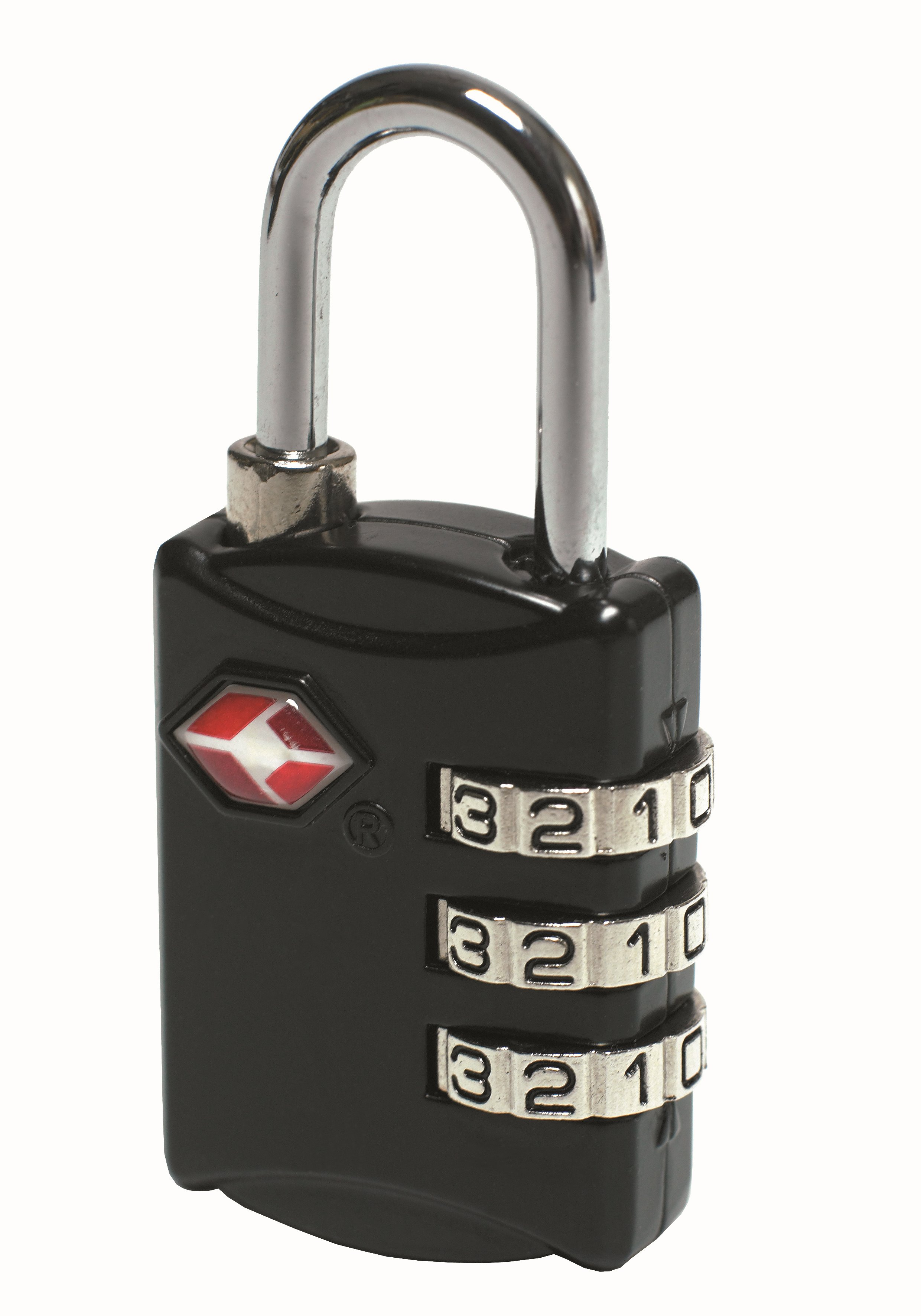 A simple combination lock, which ensures that your luggage is locked. The lock shows whether it has been opened with a TSA key. If you luggage is locked with an ordinary lock, airport staff may cut it open if they need to inspect your luggage. However, if your luggage is locked with a TSA lock, the lock will not be cut open. It will be locked again as soon as the inspection has been completed.